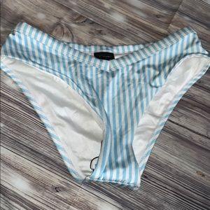Bikini bottoms baby blue stripes by la hearts